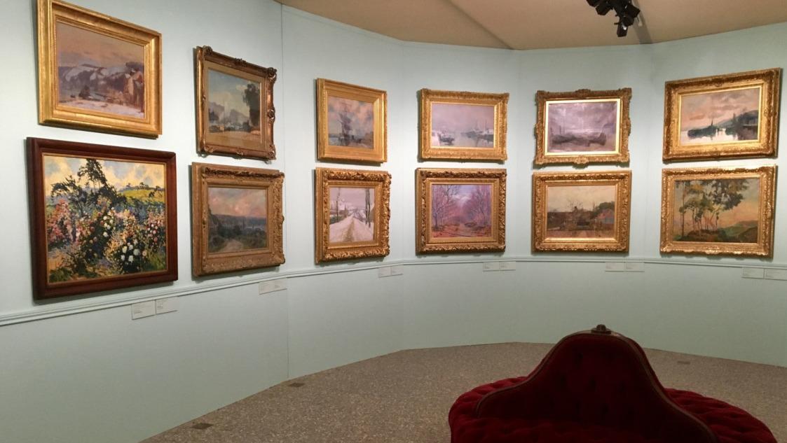Vue de l'exposition François Depeaux, l'homme aux 600 tableaux, musée des Beaux-Arts de Rouen, 2020. (©Guy Boyer)